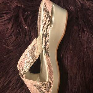Cole haan animal print sandals